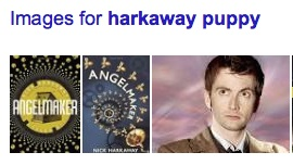 """David Tennant appears in a list of Google images associated with a search on """"Harkaway puppy"""""""